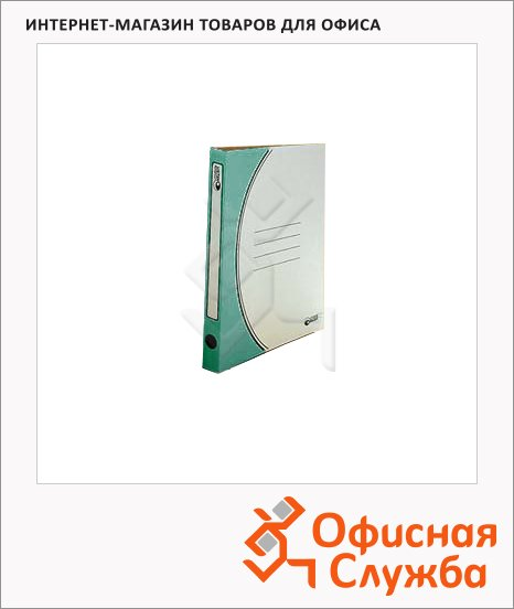 фото: Скоросшиватель картонный Промтара Офис Стандарт зеленый А4, 30 ОПС30з