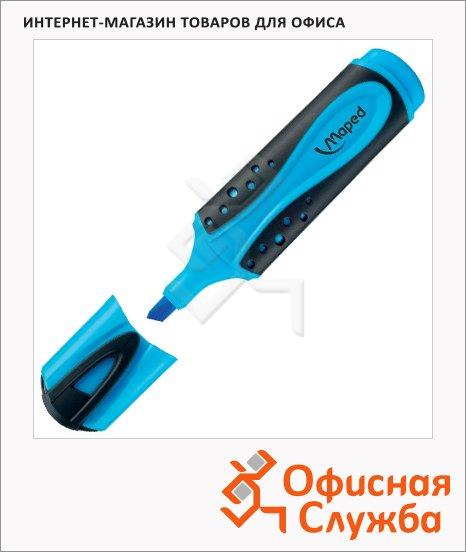 Текстовыделитель Maped Fluo Pep's Soft голубой, 1-5мм, скошенный наконечник