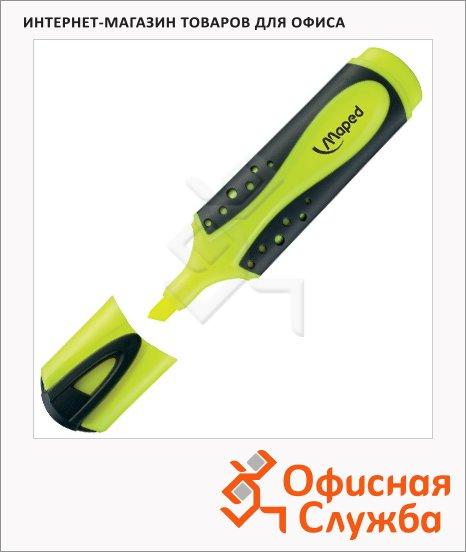 Текстовыделитель Maped Fluo Pep's Soft желтый, 1-5мм, скошенный наконечник