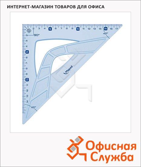 фото: Угольник Maped Geometric 21см 45°/45°, голубой, 242421