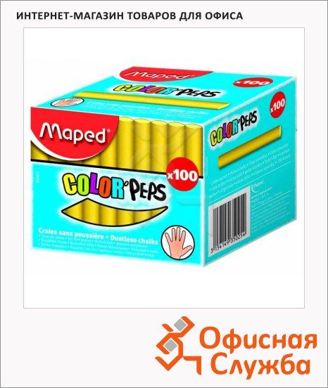 Набор мелков для асфальта Maped Color'Peps желтые, круглые, 100шт