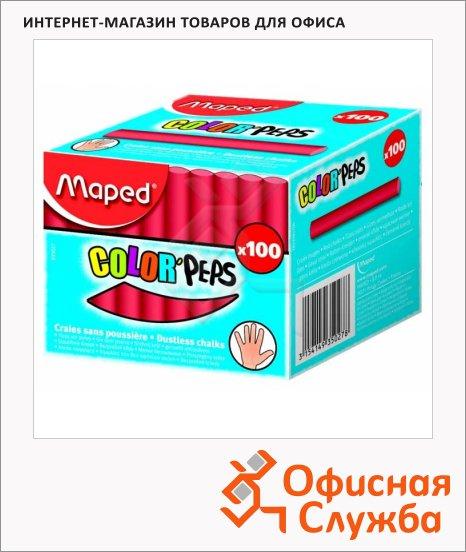 Набор мелков для асфальта Maped Color'Peps красные, круглые, 100шт