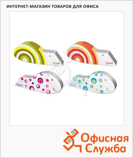 Ластик Maped Ergo Fun 55x22x8мм, цветной, фигурный, 119711