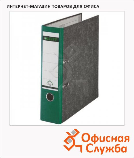 фото: Папка-регистратор А4 Leitz зеленая 80 мм, 10800255