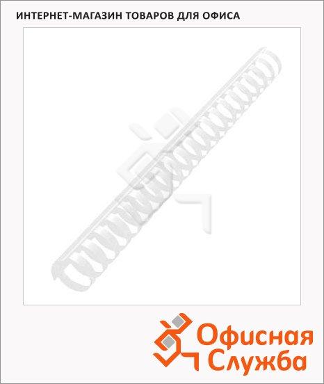 фото: Пружины для переплета пластиковые Office Kit белые на 210-240 листов, 25мм, 50шт, кольцо, BP2081
