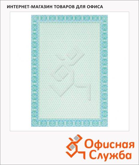 фото: Сертификат-бумага Decadry голубая двойная спираль А4, 115г/м2, 70 листов