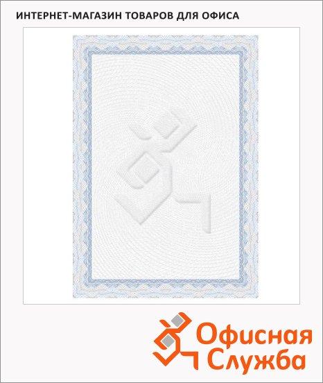 Сертификат-бумага Decadry голубая спираль, А4, 115г/м2, 70 листов