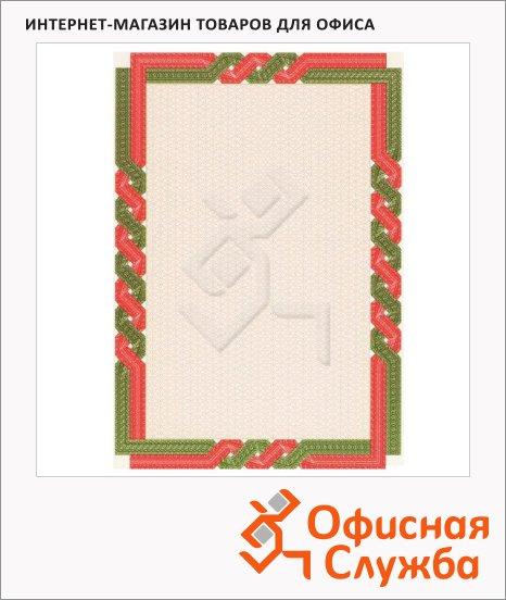 фото: Сертификат-бумага Decadry красно-зеленая рамка А4, 115г/м2, 70 листов