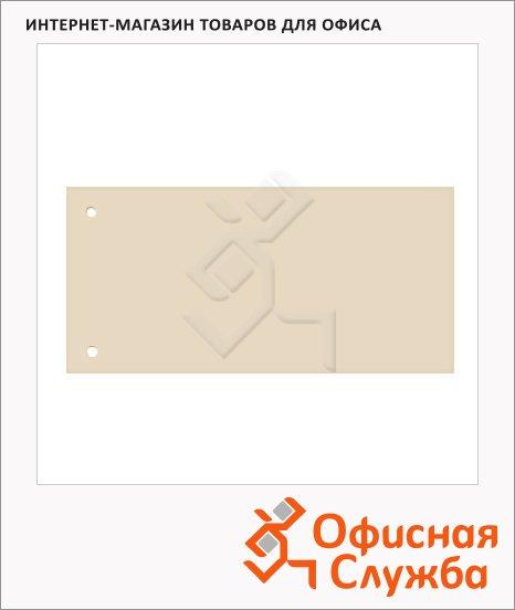 фото: Разделительные полоски Brunnen Color Code бежевые 100 разделов, 240х105 мм, 66040-11