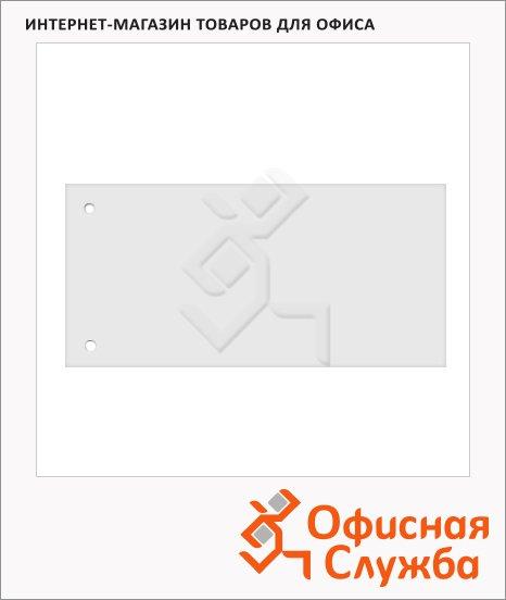 фото: Разделитель листов Brunnen Color Code белые 100 разделов, 240х105 мм, 66040-00