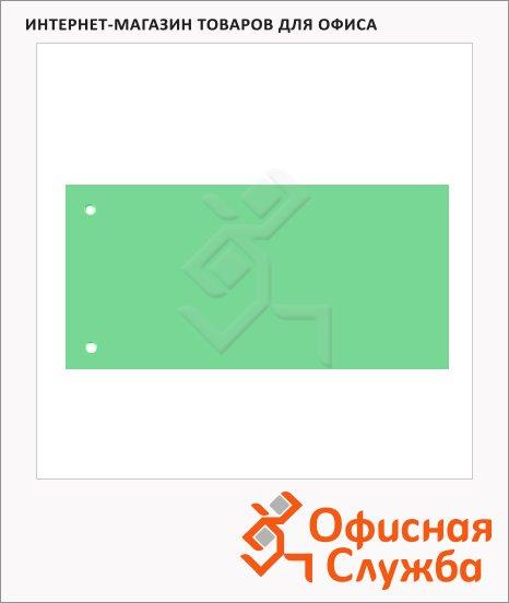 Разделительные полоски Brunnen Color Code зеленые, 100 разделов, 240х105 мм, 66040-50