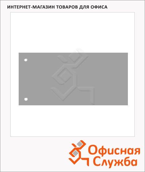 фото: Разделительные полоски Brunnen Color Code серые 100 разделов, 240х105 мм, 66040-80