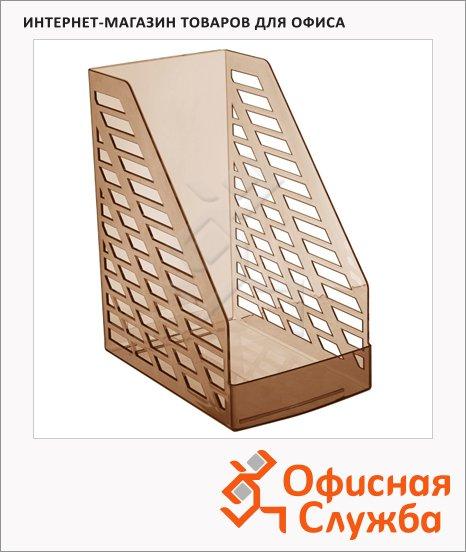 фото: Накопитель вертикальный для бумаг Стамм XXL А4 160мм, коричневый, ЛТ905