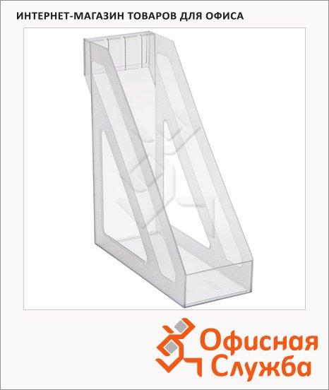 фото: Накопитель вертикальный для бумаг Стамм Базис А4 100мм, прозрачный, ЛТ34