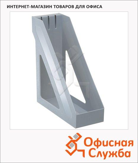 фото: Накопитель вертикальный для бумаг Стамм Базис А4 100мм, серый, ЛТ31