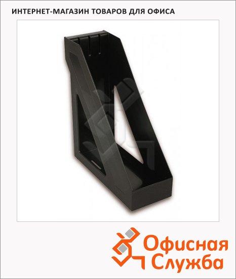 Накопитель вертикальный для бумаг Стамм Базис А4, 100мм, черный, ЛТ32