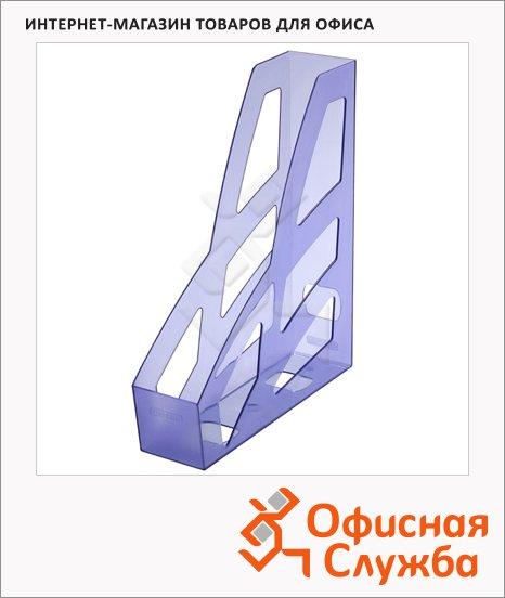 Накопитель вертикальный для бумаг Стамм Лидер А4, 70мм, голубой, ЛТ125