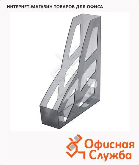 Накопитель вертикальный для бумаг Стамм Лидер А4, 70мм, серый, ЛТ124