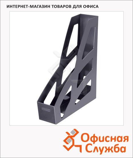 фото: Накопитель вертикальный для бумаг Стамм Лидер А4 70мм, черный, ЛТ122