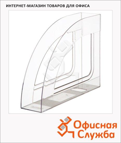 фото: Накопитель вертикальный для бумаг Стамм Респект А4 70мм, прозрачный, ЛТ144