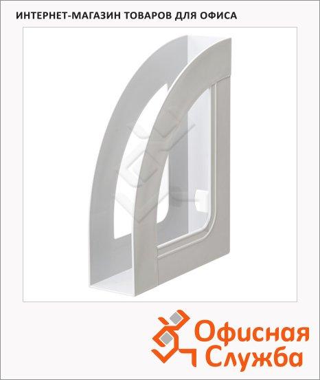 фото: Накопитель вертикальный для бумаг Стамм Респект А4 70мм, серый, ЛТ141