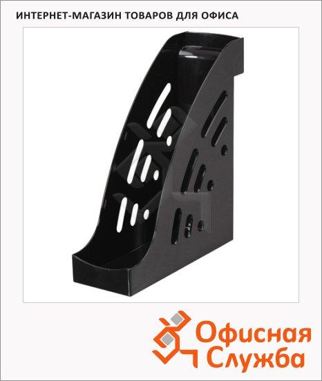 фото: Накопитель вертикальный для бумаг Стамм Торнадо А4 95мм, черный, ЛТ401