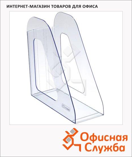 фото: Накопитель вертикальный для бумаг Стамм Фаворит А4 90мм, голубой, ЛТ702