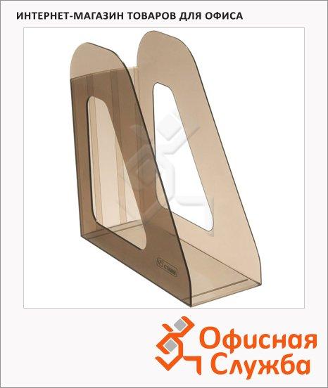 фото: Накопитель вертикальный для бумаг Стамм Фаворит А4 90мм, коричневый, ЛТ704
