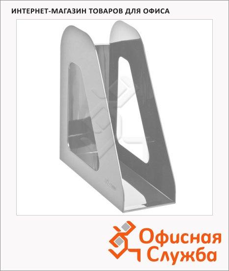 Накопитель вертикальный для бумаг Стамм Фаворит А4, 90мм, серый, ЛТ706