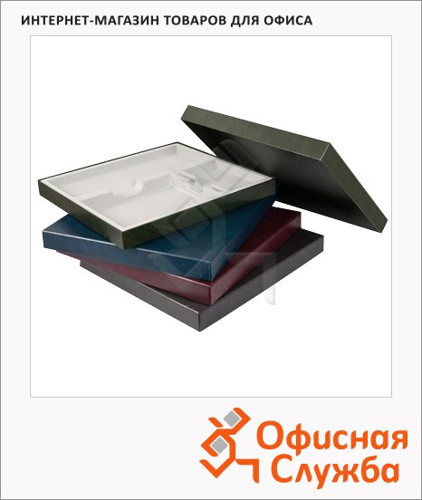 фото: Подарочная коробка Brunnen чёрная 37.8х34.7см, на 3 изделия