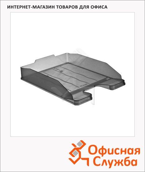 фото: Лоток горизонтальный для бумаг Стамм Эксперт А4 серый тонированный, ЛТ203