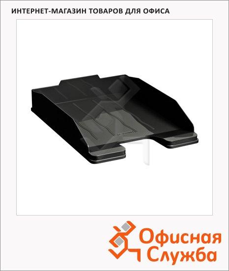 Лоток горизонтальный для бумаг Стамм Эксперт А4, черный, ЛТ201