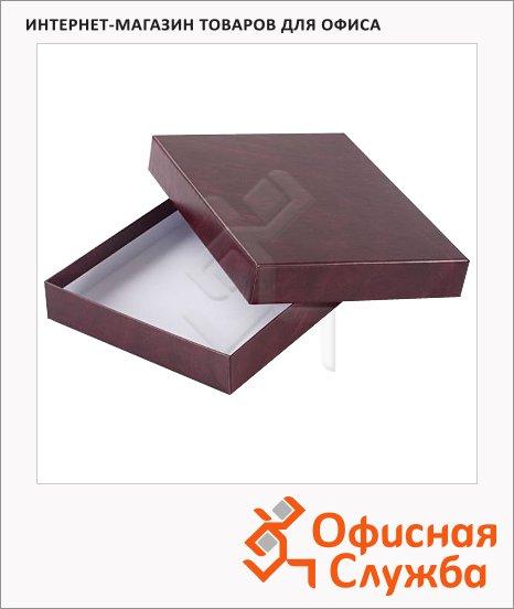 фото: Подарочная коробка для ежедневника Brunnen бордовая 22.5х30.5см