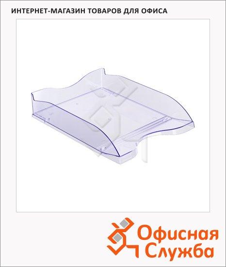 фото: Лоток горизонтальный для бумаг Стамм Люкс А4 голубой, ЛТ63