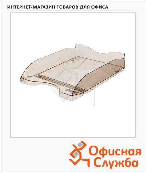 фото: Лоток горизонтальный для бумаг Стамм Люкс А4 коричневый, ЛТ67