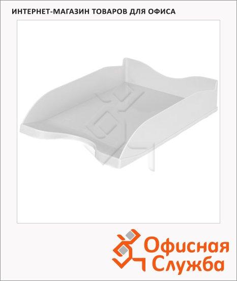 фото: Лоток горизонтальный для бумаг Стамм Люкс А4 серый, ЛТ64