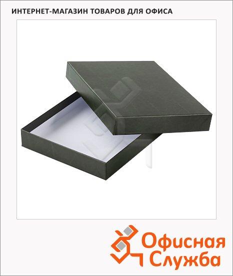 фото: Подарочная коробка для ежедневника Brunnen Универсал зелёная 15,8х21,5см