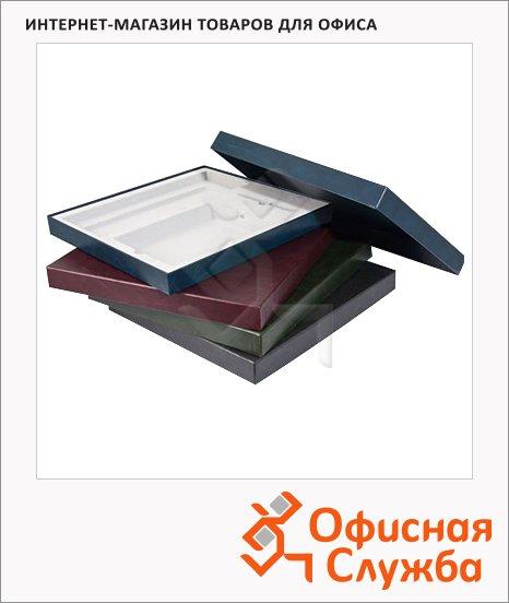фото: Подарочная коробка Brunnen бордовая 37.8х34.7см, на 2 изделия