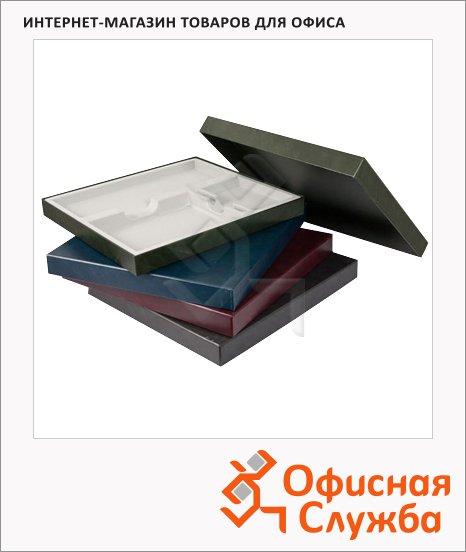 фото: Подарочная коробка Brunnen бордовая 37.8х34.7см, на 3 изделия