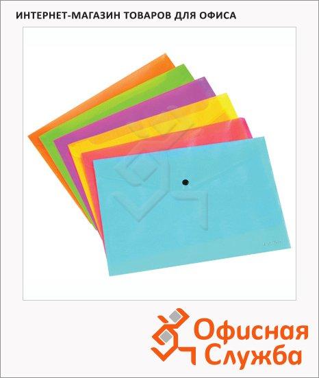 Папка-конверт на кнопке Erich Krause Neon ассорти, А4, 31011