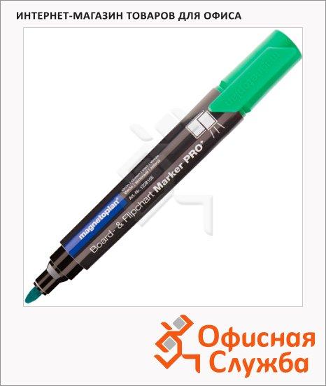фото: Маркер для досок и флипчартов Magnetoplan зеленый 1.5-3мм, круглый наконечник, cap off, 1228105