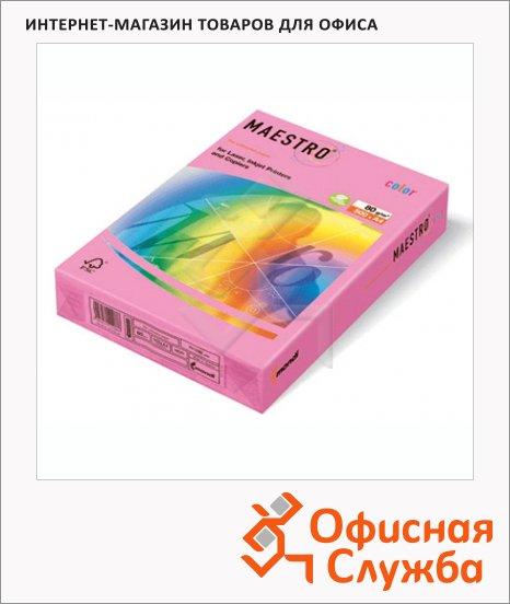 Цветная бумага для принтера Maestro Color розовая неон, А4, 500 листов, 80г/м2, NEOPI