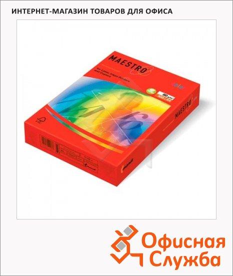 фото: Цветная бумага для принтера Color кораллово-красный А4, 500 листов, 80г/м2, CO44