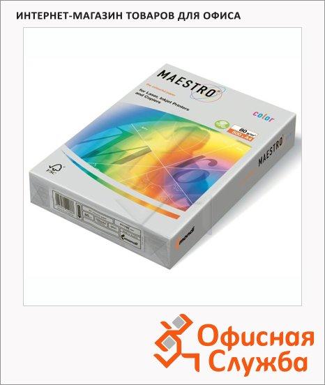 Цветная бумага для принтера Maestro Color пастель голубой лед, А4, 500 листов, 80г/м2, OBL70