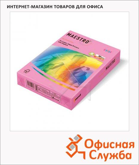 Цветная бумага для принтера Maestro Color пастельно-розовая, А4, 500 листов, 80г/м2, PI25