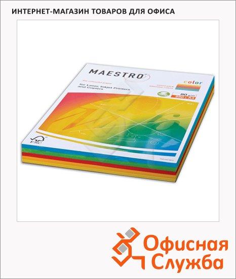 фото: Цветная бумага для принтера Color 5 цветов А4, 250 листов, 80г/м2, RB02