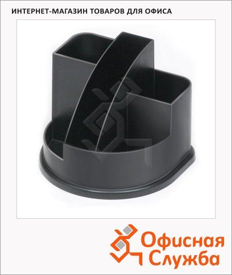 фото: Органайзер настольный Стамм Авангард 5 секций черный, ОР52