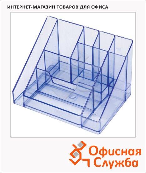 фото: Органайзер настольный Стамм Каскад 9 секций 115х160х105мм, тонированный голубой, ОР15