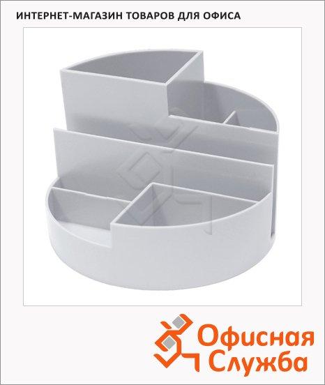 Органайзер настольный Стамм Профи 6 секций, 90х130мм, серый, ОР07