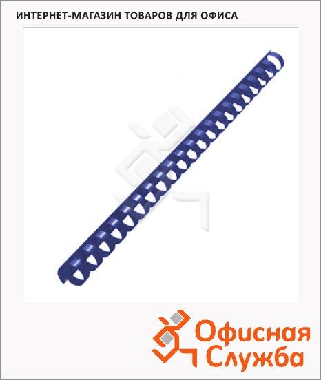 фото: Пружины для переплета пластиковые Office Kit синие на 120-140 листов, 16мм, 100шт, кольцо, BP2053